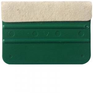 Squeegee plastic green with felt (attachment aid)