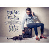 Music makes better - Wandtattoo