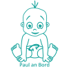 Autosticker  -  Kindername an Bord 2