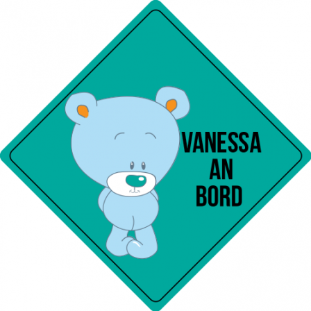 Autosticker  -  Kindername an Bord 5