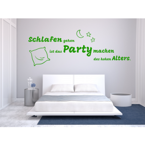 Schlafen Party - Wandtattoo