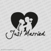 Autosticker  -  Just Married