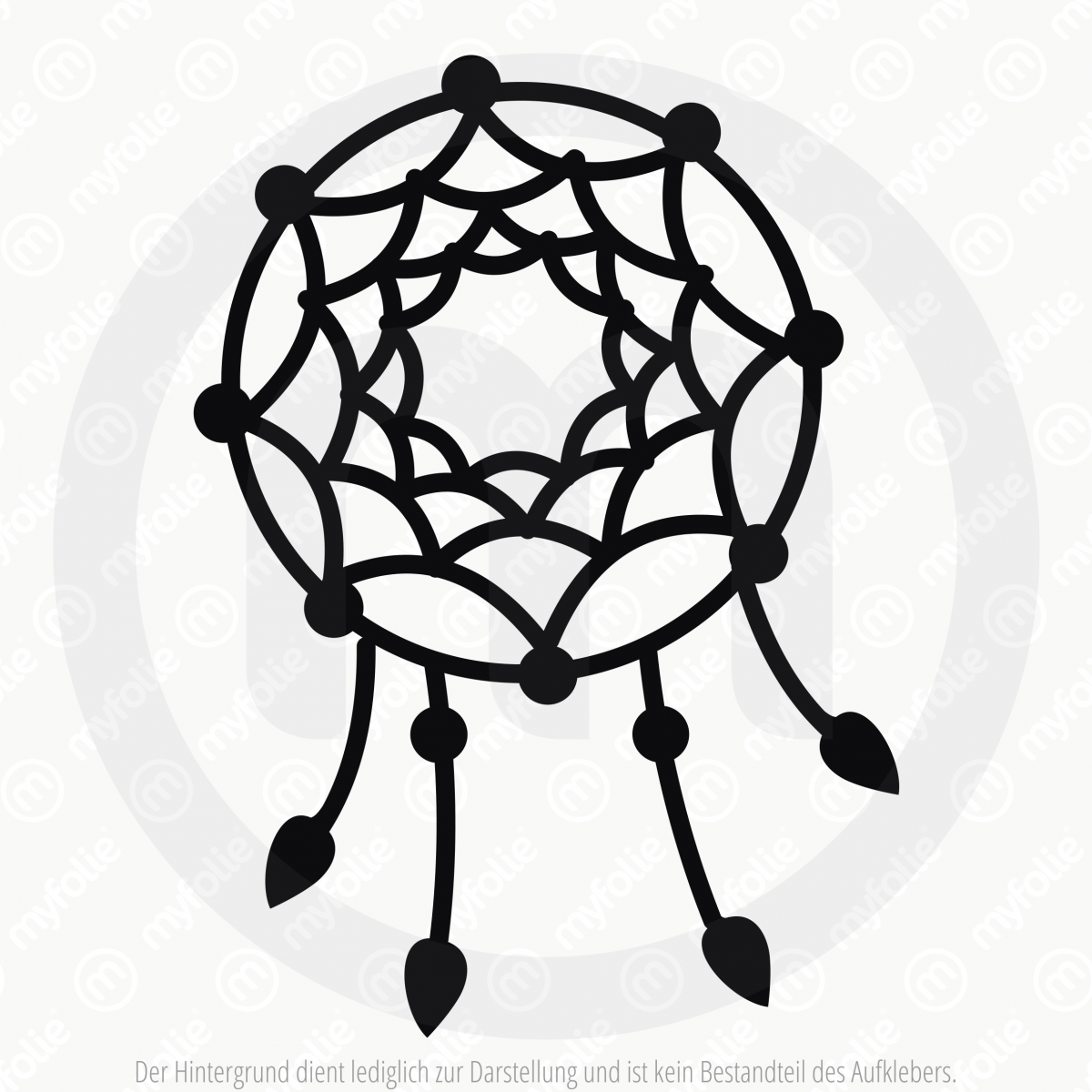 dreamcatcher links tattoo tribal nach motiv f r dein fahrzeug. Black Bedroom Furniture Sets. Home Design Ideas